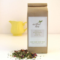 Alice's Peppermint Party Herbal Tea   Loose Leaf Blend w/ Peppermint, Ginger, Apple, Almond