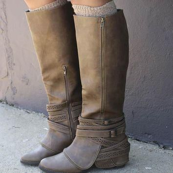 NOT RATED Hope Valley Dark Taupe Festival Boot