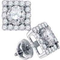 Diamond 0.33x2 Fashion Earrings in 14k White Gold 0.87 ctw