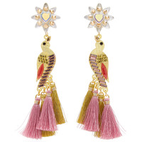 Sabanero Dorado Tasseled Gold-Plated Crystal Earrings | Moda Operandi