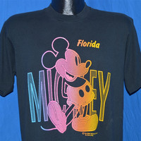 90s Mickey Mouse Walt Disney World Florida Neon t-shirt Medium