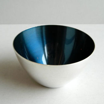 Little DGS Denmark Stainless Steel Blue Enamel Bowl