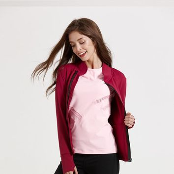 Slim Outdoors Sports Jogging Stretch Casual Yoga Summer Jacket [10544461703]