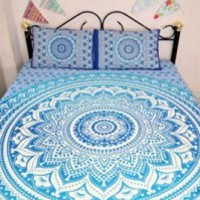 Indian Mandala DOUBLE Reversible Duvet Quilt Cover Bedding Set Ethnic Bohemian with pillows cover