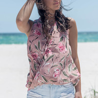 Forget Me Not Sleeveless Flower Print Top