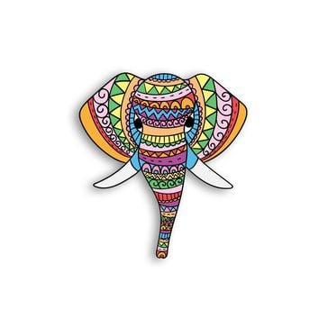 Ethnic Elephant Magnet - Animal Magnets - Ethnic Colorful Magnets