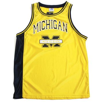 University of Michigan Bar M Apex One Basketball Jersey Yellow (Large)