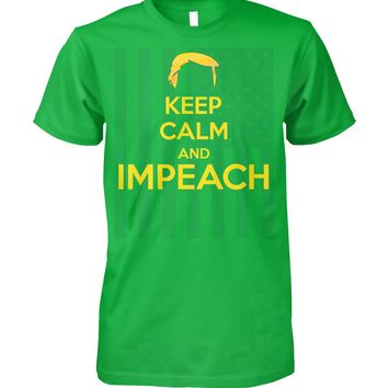 Keep Calm And Impeach Flag Funny Political Statement Shirts Men Women, Men's Tops Women's Tops