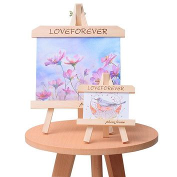 Wooden Table Photo Frame Freestanding Home Decoration