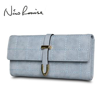 Women Wallet Leather Change Clasp Purse Money Coin Card Holders wallets