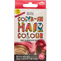 River Island Girls pink comb-in hair color