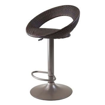 Bali Adjustable Airlift Stool, Woven Seat