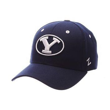 Licensed Byu Cougars Official NCAA DH Size 7 1/8 Fitted Hat Cap by Zephyr 792025 KO_19_1