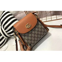 Gucci counter section women exquisitely beautiful but not outdated with any shoulder strap bag F-AGG-CZDL brown