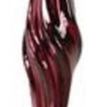 """18"""" Rich Plum Burgundy Twisted Glass Icicle Christmas Ornament"""