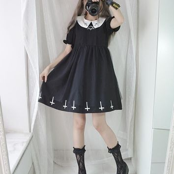 Harajuku Cross Gothic Lolita Dress