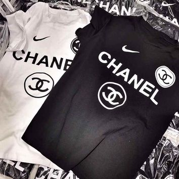 CHANNEL Flame Logo T-Shirt