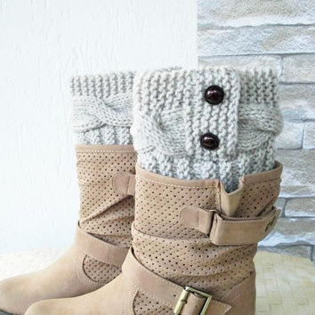 Boot Cuffs - Boot Socks Leg warmers    Legwarmers  Knit  Boot Cuffs - Boot Toppers - Winter Fall  Knit Accessories  Winter  Fall  Fashion