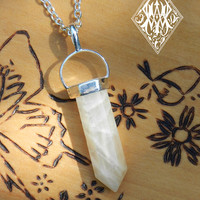 Moonstone Pendulum Necklace Crystal Gemstone