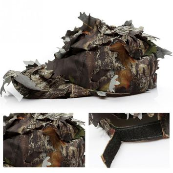 Outdoor Woodland 3D Leaf Camouflage Camo Jungle Hunting Sunshade Pretend Army Helmet Hat