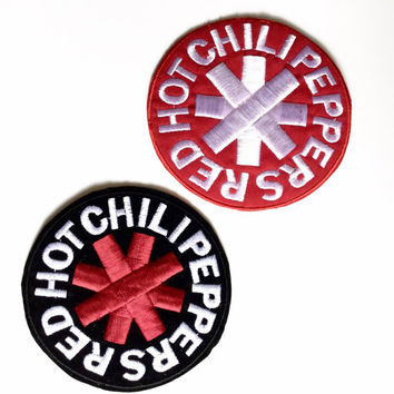 Red Hot Chili Peppers patch Velvet Based Embroidered patch Sew on patch  Iron on patch Applique