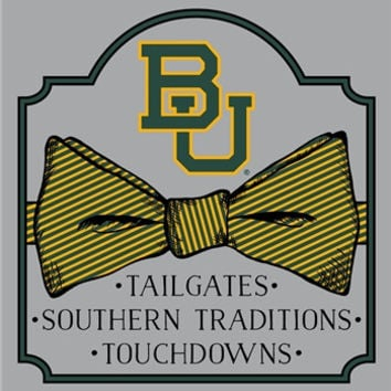 Southern Couture University of Baylor Bears Classic Bow Girlie Bright T Shirt