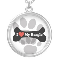 I Love My Beagle - Dog Bone