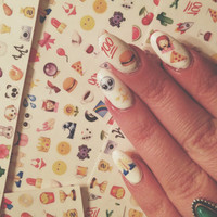 SO EMOJIONAL nail decals pack#1 - set of 96 decals