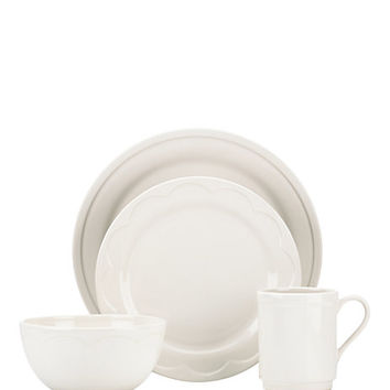 Kate Spade Sculpted Scallop 12 Piece Dinnerware Set
