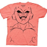 Dragonball Z Buu Large Face Adult Peach T-shirt