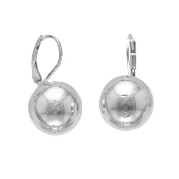14mm Sterling Silver Ball Earring on Lever Back