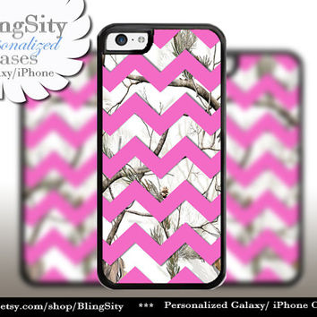 Monogram iPhone 5C 6 6 Plus Case White Snow Camo Hot Pink Chevron iPhone 5s 4 case Ipod Real Tree Personalized Country Inspired Girl