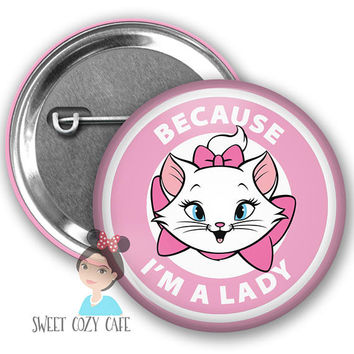 Marie Aristocats Inspired Inspired Park Button