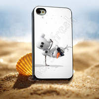 Disney Frozen, Olaf The Snowman Dance - for iPhone 4/4s, iPhone 5/5S/5C, Samsung S3 i9300, Samsung S4 i9500 Hard Case *ENERGICFRESH*
