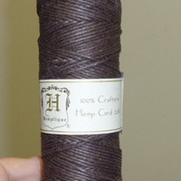 Dark Brown Polished Hemp Cord 1mm 20 test Macrame Cord Twine jewelry making hippie