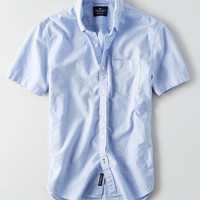 AEO Short Sleeve Oxford Shirt, Light Blue