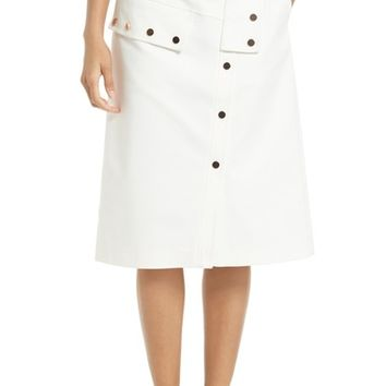 Tibi Snap Front A-Line Skirt | Nordstrom