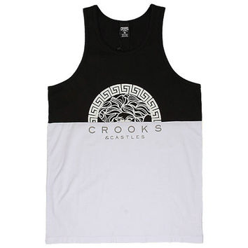 The Bandit Tank Top - Black & White By Crooks And Castles New Era Caps, Snapbacks, Bucket Hats, T-Shirts, Streetwear USA Cranium Fitteds
