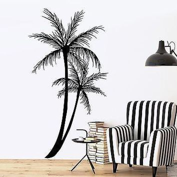 Wall Decal Palm Tree Floral Romantic Vinyl Sticker Unique Gift (z3630)