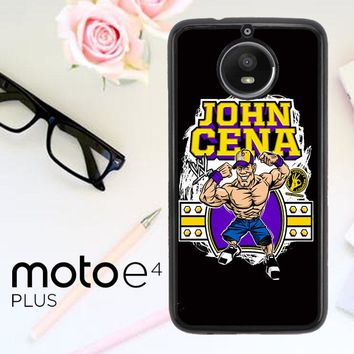 John Cena Cenation Cartoon V0479 Motorola Moto E4 Plus Case