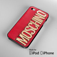 Moschino Red Bag A0818 iPhone 4 4S 5 5S 5C 6, iPod Touch 4 5 Cases