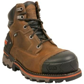 "Timberland PRO Boondock 6"" Waterproof Soft Toe Brown Outdoor Boot"
