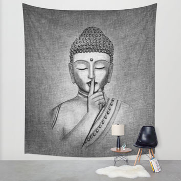 Shh... Do not disturb - Buddha Wall Tapestry by Vanya