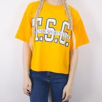 Vintage Trends Sports Gear Crop Top T Shirt