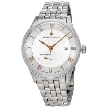 Maurice Lacroix Masterpiece Silver Dial Automatic Mens Watch MP6807-SS002-111