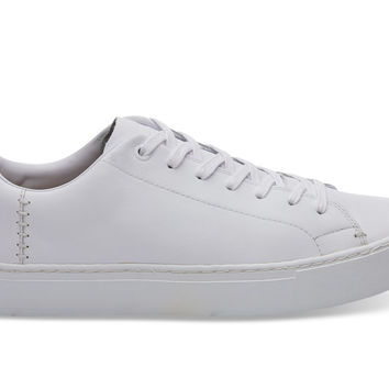 WHITE LEATHER MEN'S LENOX SNEAKERS