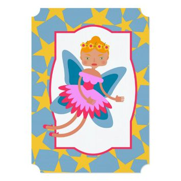Fairy of the forest girl birthday party invitation