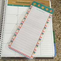 FREE SHIPPING Spring Easter Chevron To Do Laminated Dashboard Insert for Erin Condren Life Planner - clips right into coils!