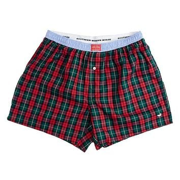 Hanover Oxford Boxers in Red and Green Tartan by Southern Marsh