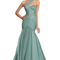 eDressit New One Strap Green Formal Prom Ball Gown Evening Party Dress (00132904)